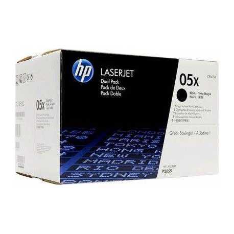 HP CE505XD SİYAH ORİJİNAL SIFIR TONER DUAL PACK - ÇİFTLİ PAKET 05XD